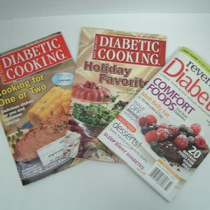 reverse diabetes and diabetic cooking magazine lot